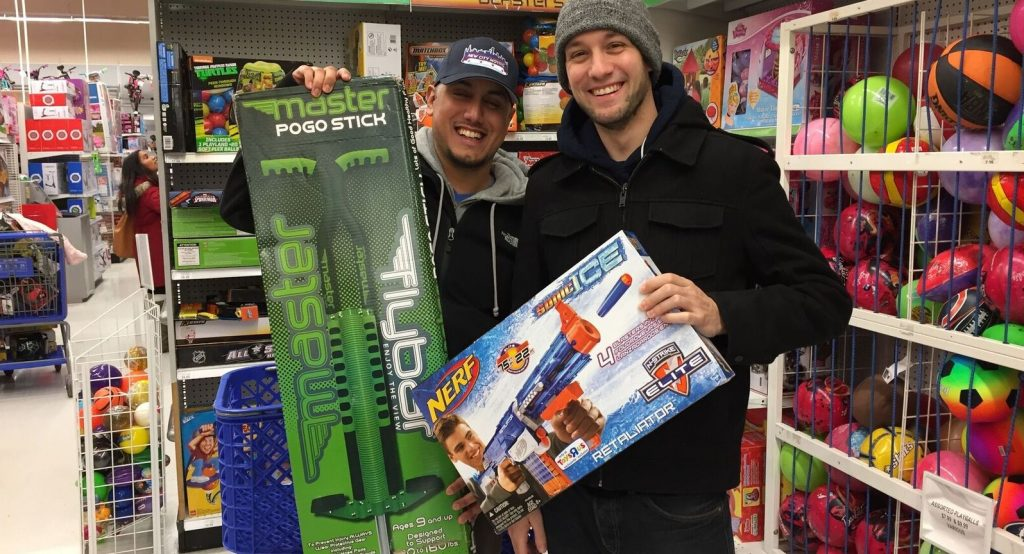 New city moving employees buying toys for donation