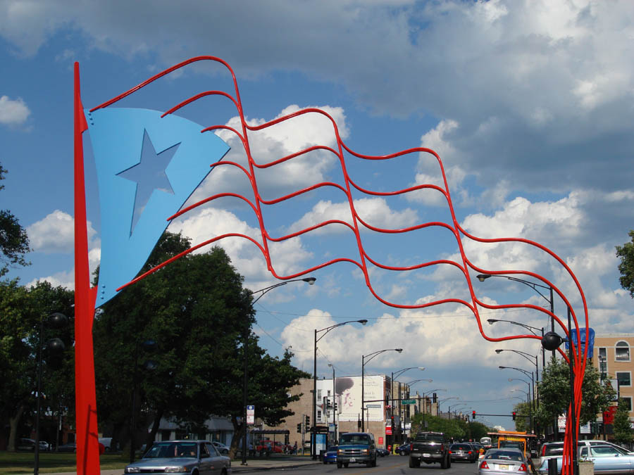 the pr steel flag by photopops