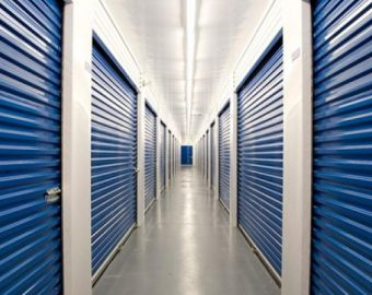 self storage unit hallway