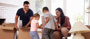 family preparing for a move