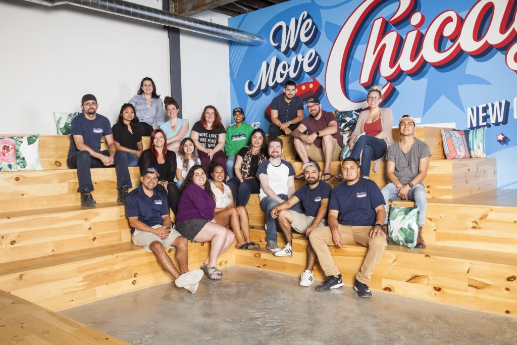 team at new city moving in chicago